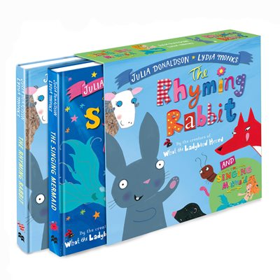 The Singing Mermaid and The Rhyming Rabbit board book gift slipcase